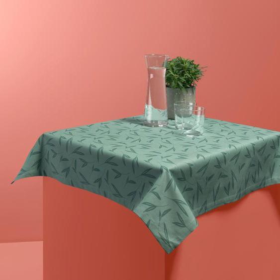 Tischdecke Flair Living 160 X 210 cm Beige Blättermotiv 100 /% Baumwolle