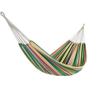 RESTPOSTEN: OUTFLEXX Hängematte, bunt gestreift, Baumwolle/ Polyester, Handarbeit aus Brasilien, 230x165cm