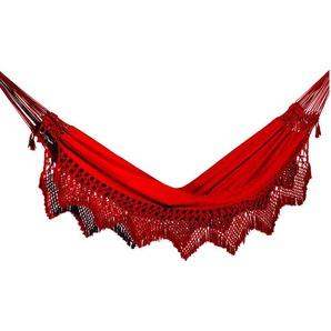 RESTPOSTEN: OUTFLEXX Hängematte, rot, Baumwolle/Polyester, Handarbeit aus Brasilien, 400 x 160 cm