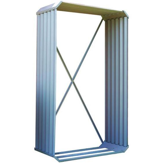 OUTFLEXX Kaminholzregal, silber, Zincalume, 105 x 45 x 180 cm, Hochformat