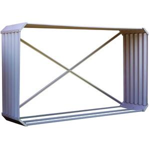 OUTFLEXX Kaminholzregal, silber, Zincalume, 210 x 45 x 105 cm, Querformat