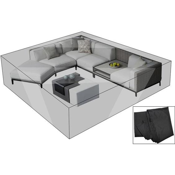 OUTFLEXX Premium Abdeckhaube für Lounge, z.B. 20808, 300x355x70cm, wasserbeständig, schwarz