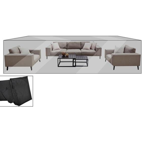 OUTFLEXX Premium Abdeckhaube für Lounge, z.B. Lazy Lounge, 470x224x55cm, wasserbeständig, schwarz