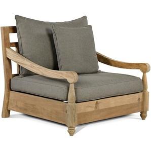 OUTFLEXX Stuhl, natur, recycled Teak, 90X90x82cm, inkl. Kissen, mit Armlehnen
