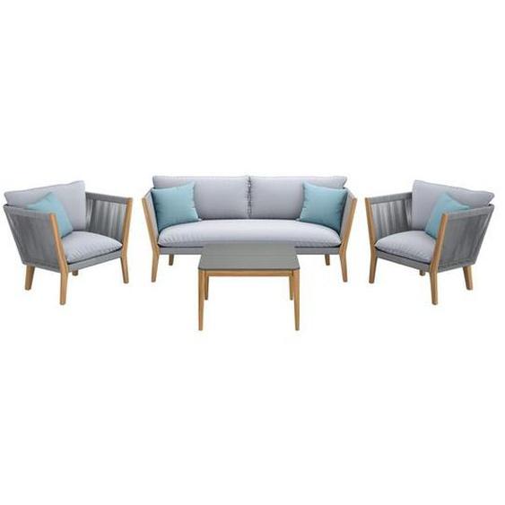 OUTLIV. Aura/Select Sofagruppe 4-tlg Eukalyptus/Rope Hellgrau