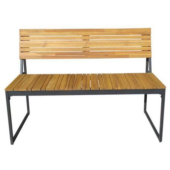 OUTLIV. Floris 2-Sitzerbank 115cm Stahl/Akazie