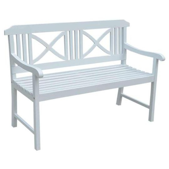 OUTLIV. Landhaus 2-Sitzerbank 128 cm Akazie Weiß