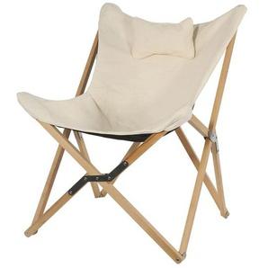 OUTLIV. Schmetterling-Sessel Holz/Canvas Natur/Beige