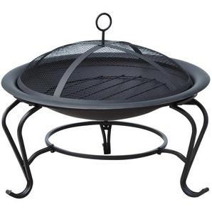 Outsunny Feuerkorb für Holz und Holzkohle schwarz