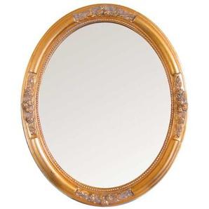 Ovaler Spiegel in Gold Barock