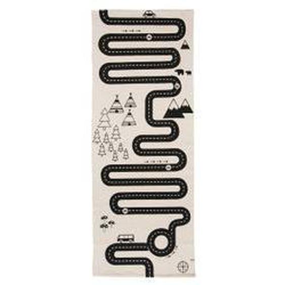 OYOY - Adventure Spielteppich, 180 x 70 cm, schwarz / weiß