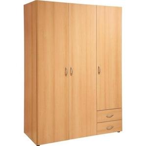 Carryhome: Kleiderschrank, Holzwerkstoff, Buche, B/H/T 120 177 52