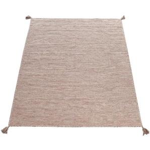 Paco Home Designer Teppich Webteppich Kelim Handgewebt 100% Baumwolle Modern Meliert Beige