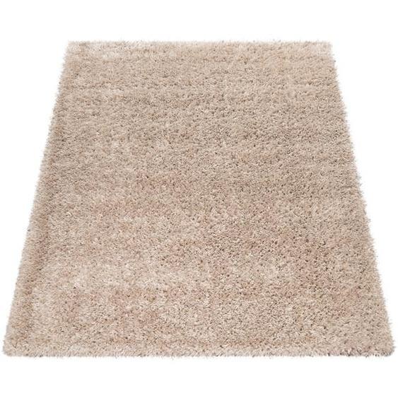 Paco Home Hochflor-Teppich, Kuschelig Weicher Flokati-Teppich, Einfarbig In Beige