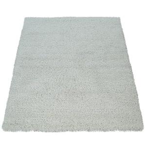 Paco Home Hochflor Teppich Wohnzimmer Weiß Soft Weich Shaggy Robust Flauschig Kuschelig
