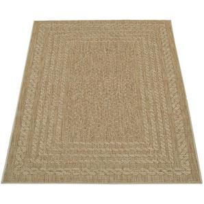 Paco Home In- & Outdoor-Teppich, Flachgewebe Mit Skandi-Muster Und Sisal-Look In Beige