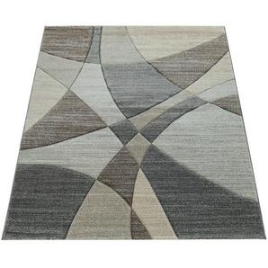 Paco Home Kurzflor Wohnzimmer Teppich Modern Geometrisches Muster In Pastell Blau