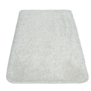 Paco Home Moderner Hochflor Badezimmer Teppich Einfarbig Badematte Rutschfest In Weiß
