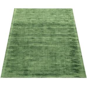 Paco Home Teppich Handgefertigt Hochwertig 100 % Viskose Vintage Aufällig Meliert In Grün