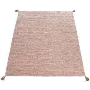 Paco Home Teppich Kilim 210, rechteckig, 13 mm Höhe, hangefertigter Web-Teppich mit Fransen, Wohnzimmer B/L: 160 cm x 220 cm, 1 St. beige Esszimmerteppiche Teppiche nach Räumen