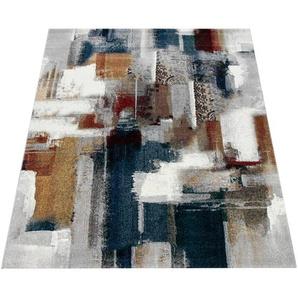Paco Home Teppich, Kurzflor-Teppich Für Wohnzimmer, Abstraktes Modernes Design, In Bunt
