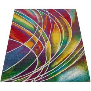 Paco Home Teppich Modern Designer Teppich Bunter Farbmix Gemustert Mehrfarbig