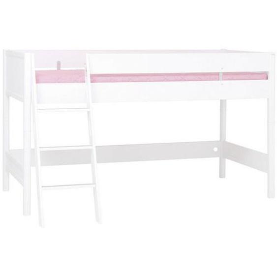 Paidi Hochbett 90/200 cm Weiß , Holzwerkstoff , Nachbildung , 90x200 cm