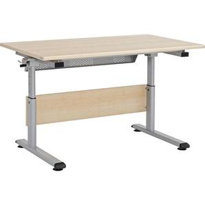 Paidi: Schreibtisch, Ahorn, Silber, Ahorn, B/H 140 70