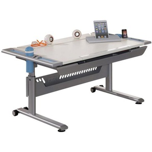 Paidi: Schreibtisch, Blau, Silber, Weiß, B/H/T 120 79 70