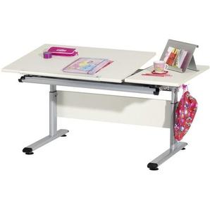Paidi: Schreibtisch, Creme, Silber, B/H 130 70