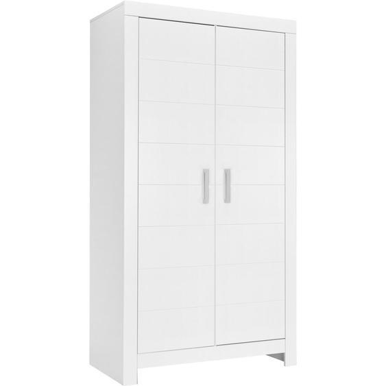 Paidi Kleiderschrank , Weiß , Holzwerkstoff , 4 Fächer , 110x205.2x55.3 cm