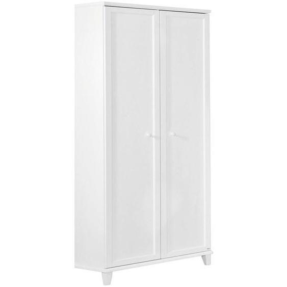 Paidi Kleiderschrank , Weiß , Holzwerkstoff , 5 Fächer , 96.9x200.1x56.6 cm
