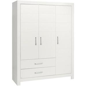 Paidi: Kleiderschrank, Holzwerkstoff, Weiß, B/H/T 156,8 205,3 55,3