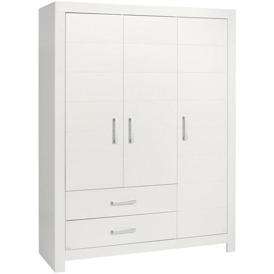 Paidi Kleiderschrank , Weiß , Holzwerkstoff , 6 Fächer , 2 Schubladen , 156.8x205.3x55.3 cm