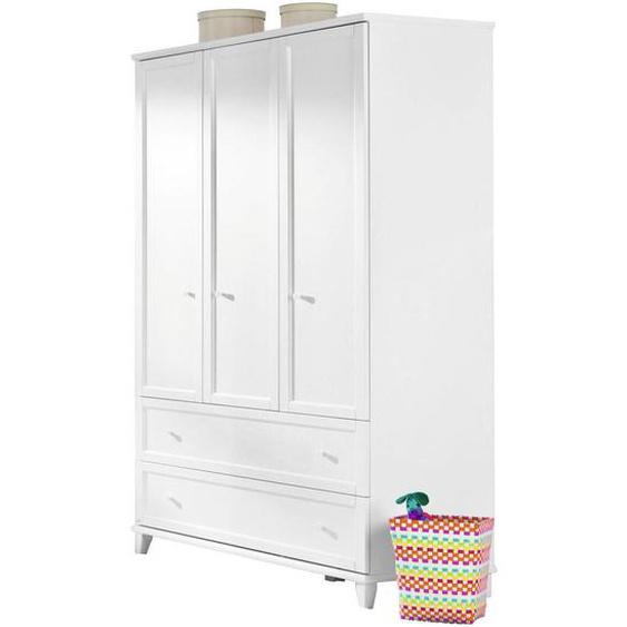 Paidi Kleiderschrank , Weiß , Holzwerkstoff , 7 Fächer , 2 Schubladen , 144.3x200.1x56.6 cm