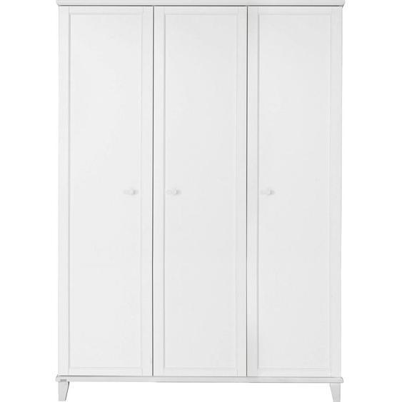 Paidi Kleiderschrank , Weiß , Holzwerkstoff , 9 Fächer , 144.3x200.1x56.6 cm