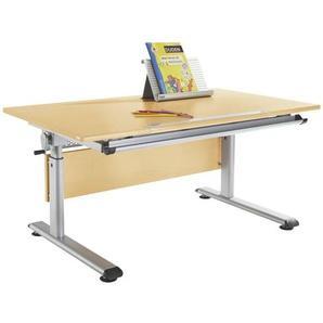 Paidi: Schreibtisch, Birke, Silber, Birke, B/H 120 70