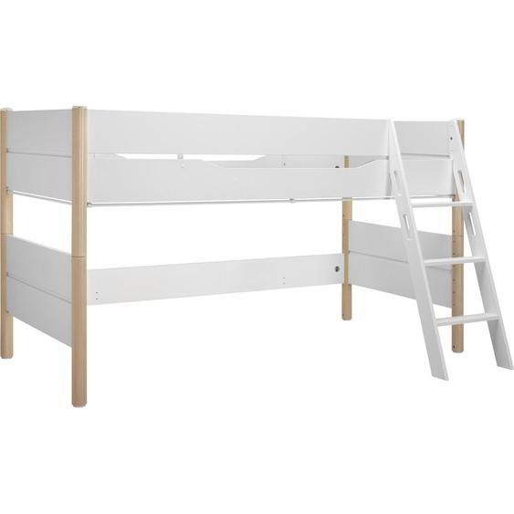 Paidi Spielbett 90/200 cm Weiß, Braun , Holz , massiv , 90x200 cm