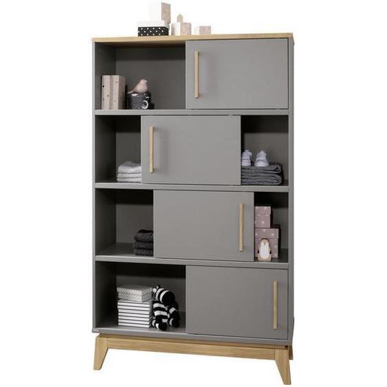 Paidi Standregal Eiche massiv Grau, Braun , Holz , 94.8x161x39.6 cm