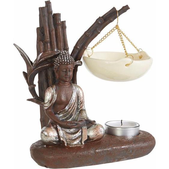 pajoma Duftlampe Buddha Einheitsgröße braun Kerzenhalter Kerzen Laternen Wohnaccessoires Duftlampen