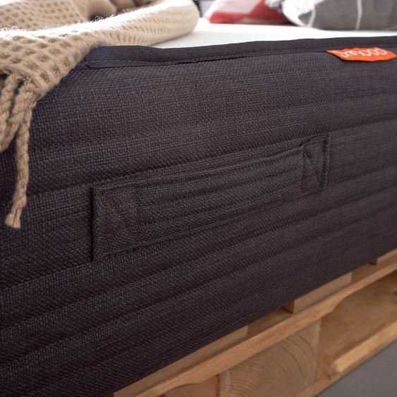 Palettenbett Smood 90x200 cm Massivholz Kiefer Industrial