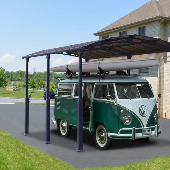 Palram Carport für Wohnmobil »Arcadia Alpine«, anthrazit, Stahlrahmen, mit Polycabonat-Dach