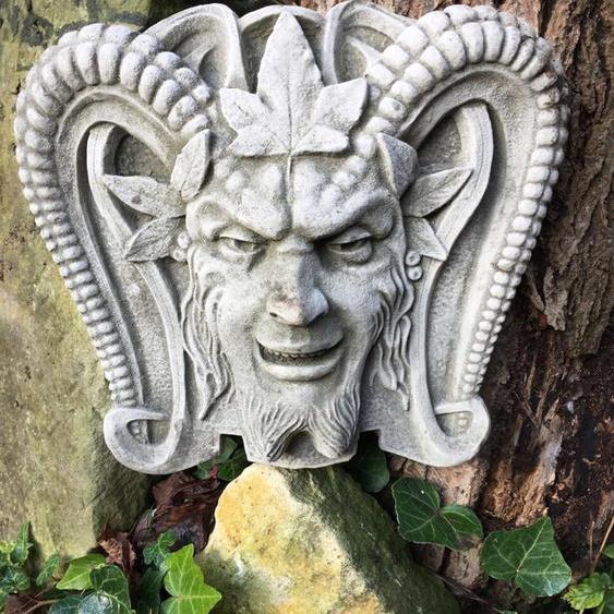 Pan - Dekoration für Gartenbrunnen Griechische Dekoration Brunnen Steinfiguren
