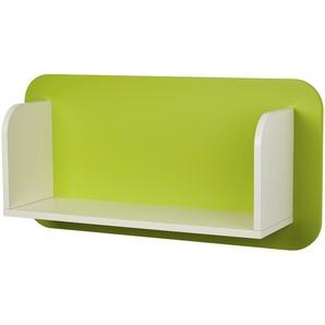 Paneelrückwand mit Regal | weiß | 90 cm | 45 cm | 25 cm | Möbel Kraft