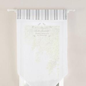 Panneaux »Belle«, Home affaire, Stangendurchzug (1 Stück), halbtransparent, Baumwolloptik, bestickt
