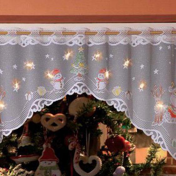Panneaux »Weihnachtsmann«, WILLKOMMEN ZUHAUSE by ALBANI GROUP, Stangendurchzug (1 Stück), Jacquard-Panneauxbogen, handcoloriert
