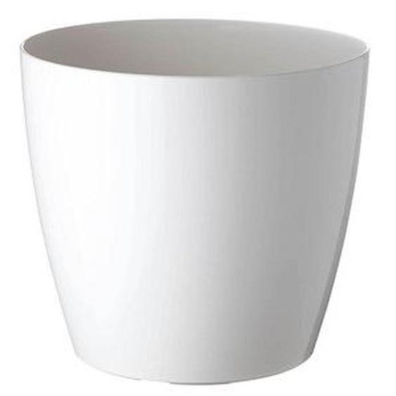 PAPERFLOW   Übertopf Kunststoff 30,0 x 30,0 x 27,3 cm weiß