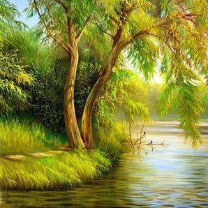Papermoon Fototapete »Summer Wood Lake«, glatt