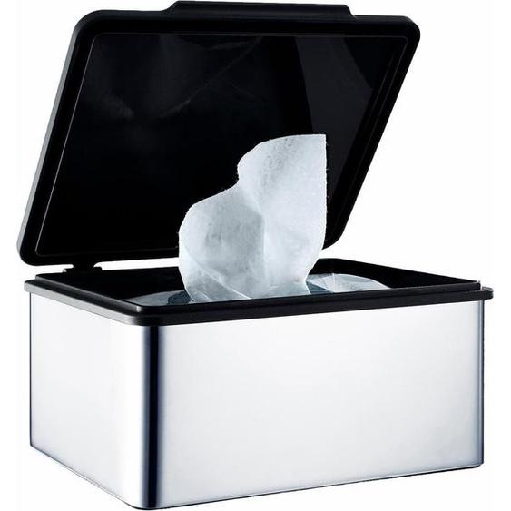 Papiertuchbox, silber, Material Edelstahl / Kunststoff »MENOTO«, blomus