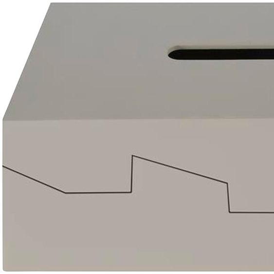 Papiertuchbox »Silhouette«, 12.8x8x24.8 cm (BxHxT), spirella, grau, Material ABS-Kunststoff